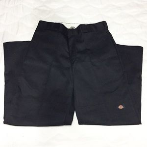 NWT DICKIES BLACK RELAXED FIT HIGH WAISTED TROUSER